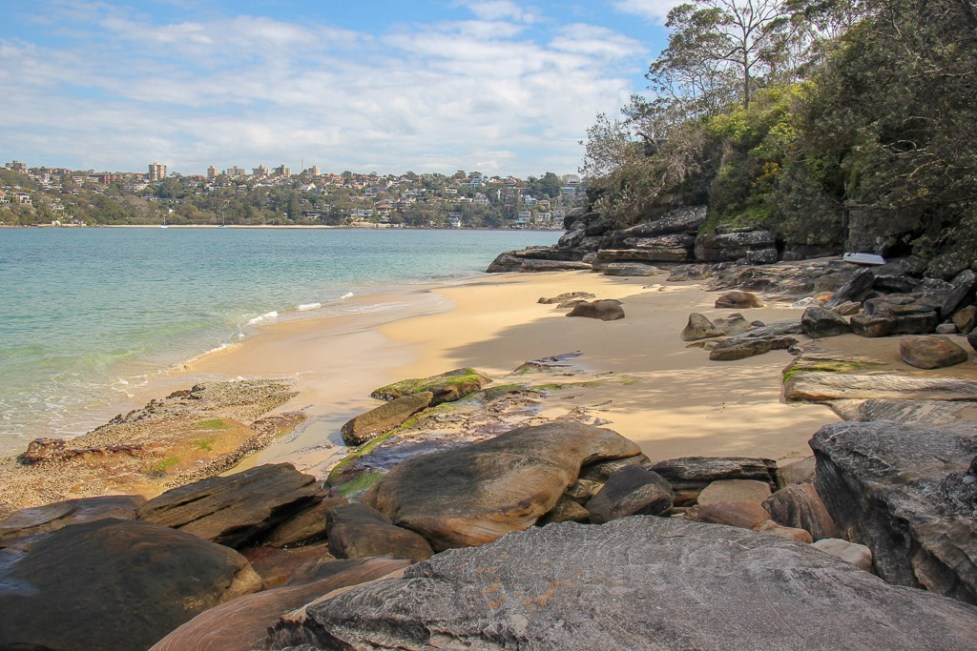 Rocky beach near Dobroyd Head in Sydney, Australia