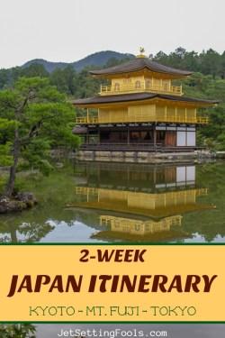 2-Week Japan Itinerary Kyoto Mt Fuji Tokyo by JetSettingFools.com