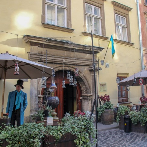 Host at Pub-Museum Gas Lamp in Lviv, Ukraine