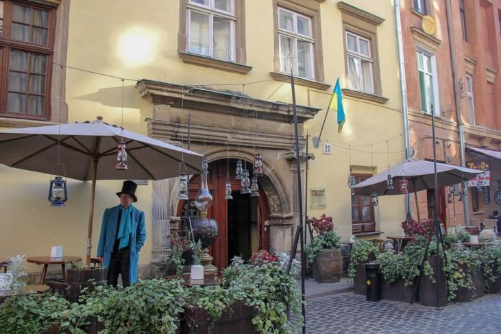Host at Pub-Museum Gas Lamp in Lviv, Ukraine