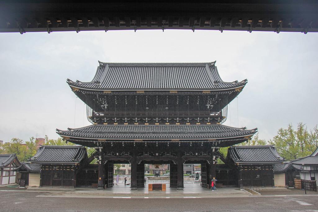 Entrance Gate to Higashi Honganji Temple in Kyoto, Japan