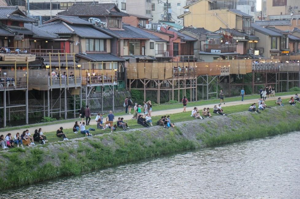 Riverside near Gion in Kyoto, Japan