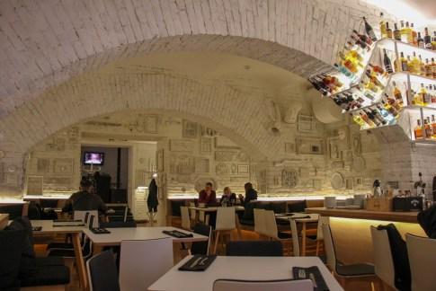 Opera Underground Left Bank restaurant in Lviv, Ukraine