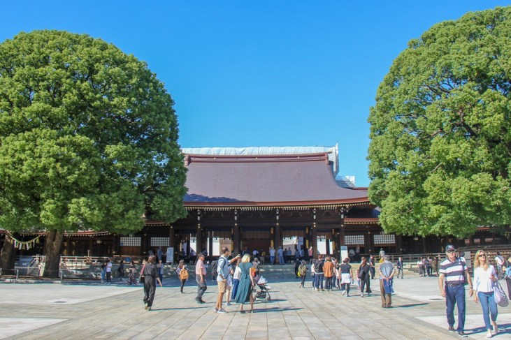 City-center Meiji Shrine in Tokyo, Japan