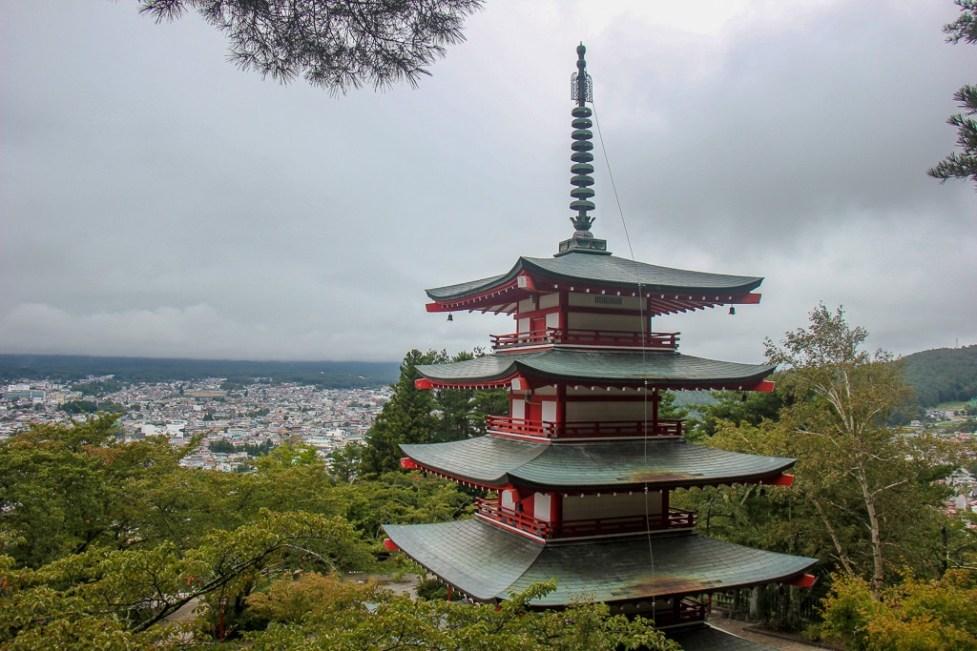 Chureito Pagoda viewpoint in Kawaguchiko, Japan