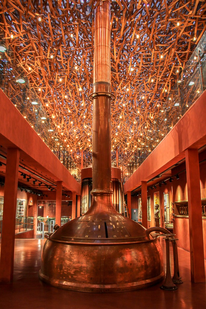 Brewing tank in the Beer Museum bar in Lviv, Ukraine