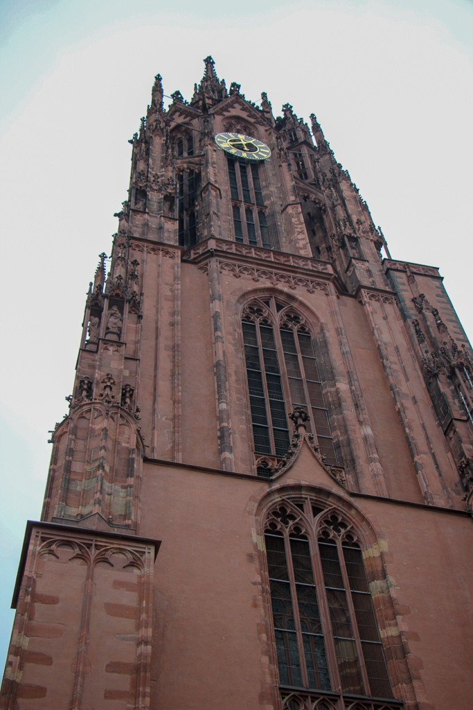 Cathedral bell tower in Frankfurt, Germany
