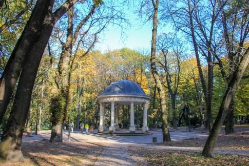 Gazebo in Ivan Franko Park in Lviv, Ukraine