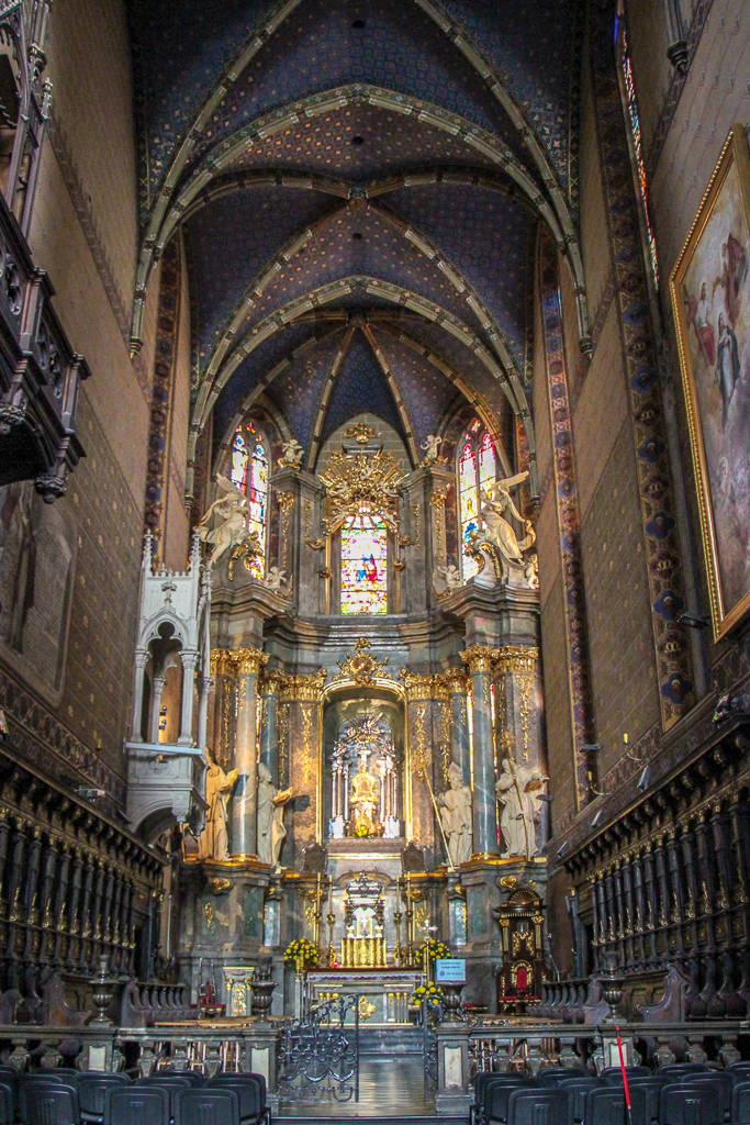Altar at the Latin Cathedral in Lviv, Ukraine