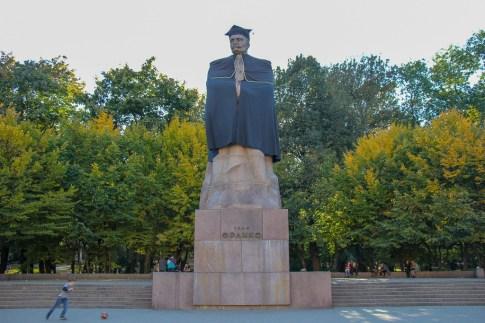 Monument to Ivan Franko at Ivan Franko Park in Lviv, Ukraine
