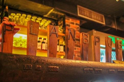 Craft beer taps at Plan B Pub in Split, Croatia