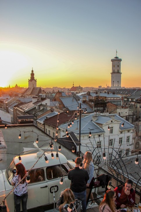 View From House Of Legends Rooftop, Lviv, Ukraine