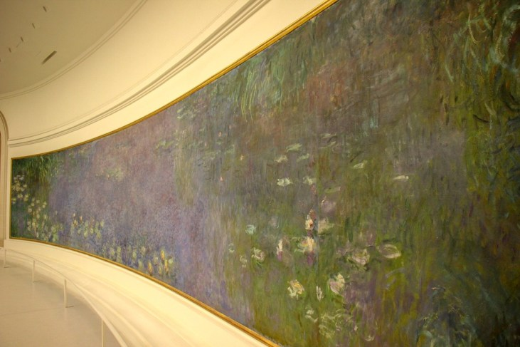 Water Lilies by Claude Monet at L'Orangerie Museum in Paris, France