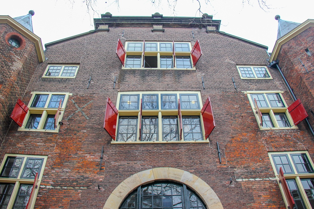 Details of the outside of De Waag, Amsterdam, Netherlands