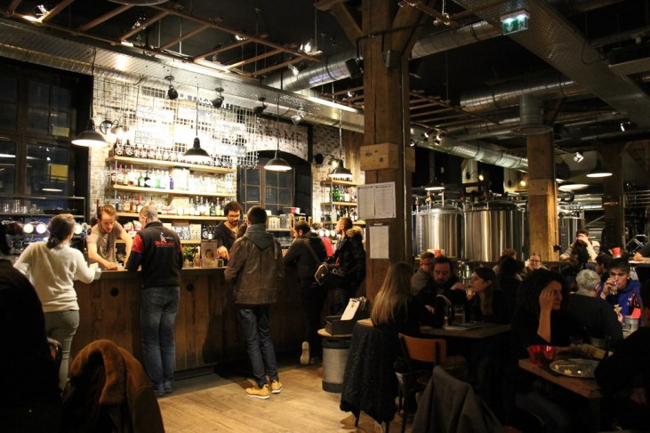 Bar at Paname Brewing Company Craft Beer Bar in Paris, France