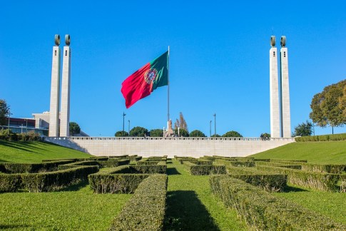 Portuguese Flag in Lisbon, Portugal