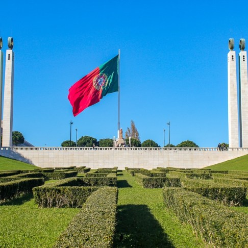 Portuguese Flag in Lisbon, Portugal
