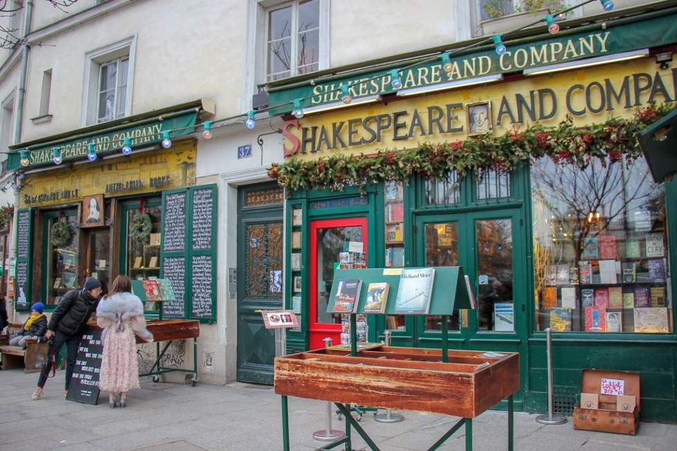 Famous Shakespeare and Company bookstore in Latin Quarter in Paris, France