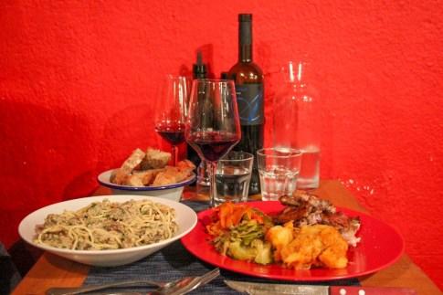 The meals, Villa Spiza, Split. Croatia