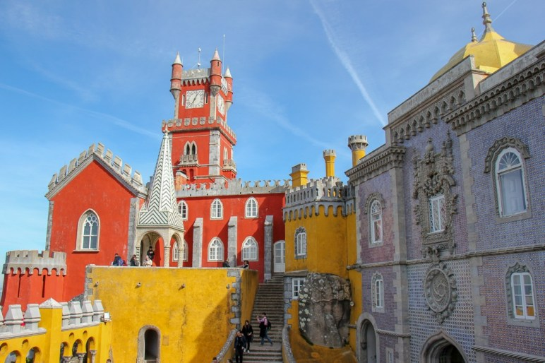 Courtyard at the Palace of Pena in Sintra, Portugal