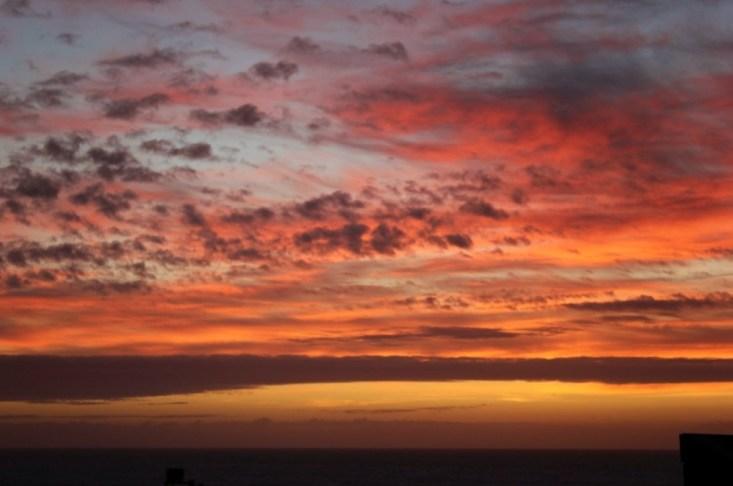 Colorful sunrise in Punta del Diablo, Uruguay