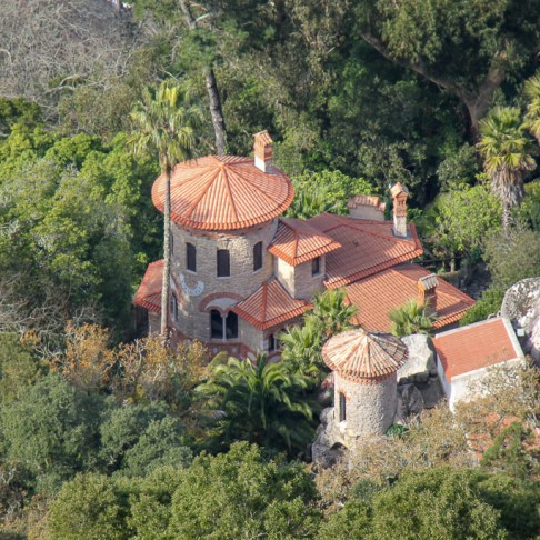 Viewpoint of Vila Sassetti in Sintra, Portugal