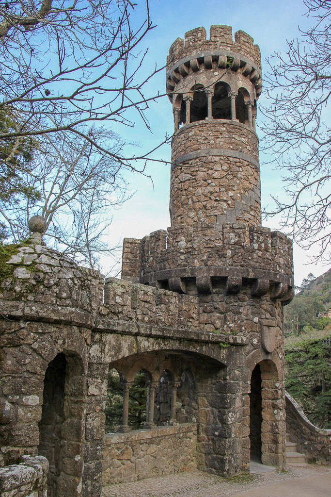 Torre da Regaleira at Quinta da Regaleira Estate in Sintra, Portugal