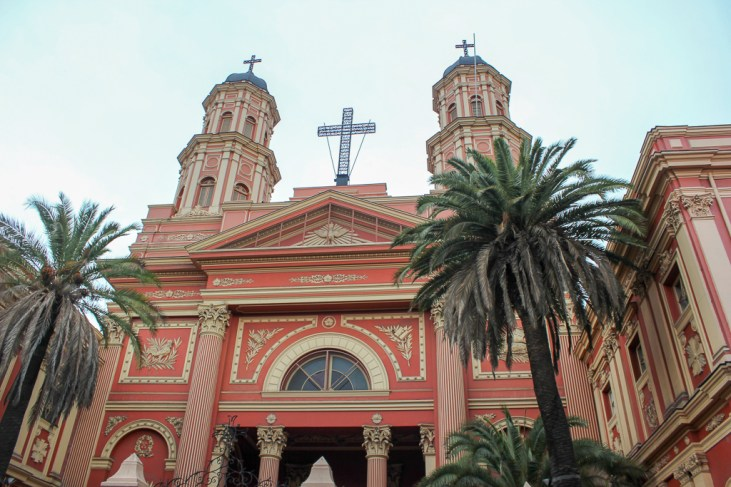 Barrio Brasil church in Santiago, Chile