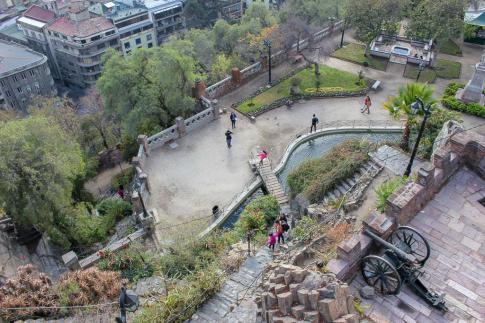 Santa Lucia Hill Park in Santiago, Chile