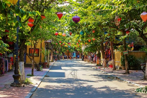 Famous 'Lantern Street' in Hoi An, Vietnam