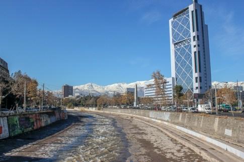 Rio Mapocho in Santiago, Chile