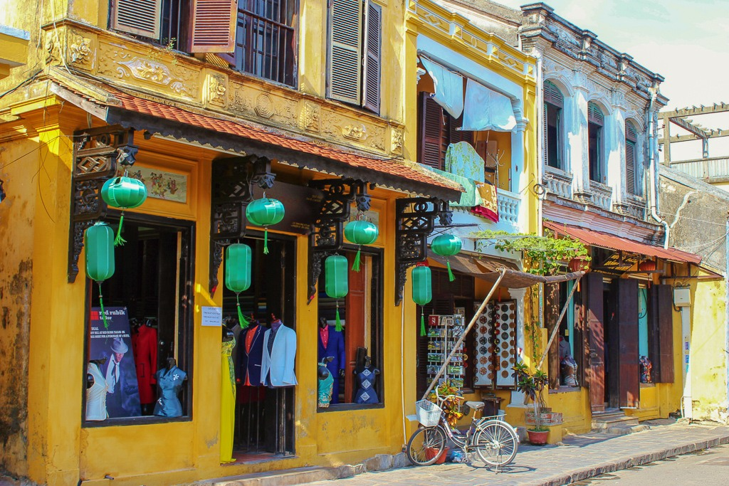 Custom Tailor shop in ancient town of Hoi An, Vietnam