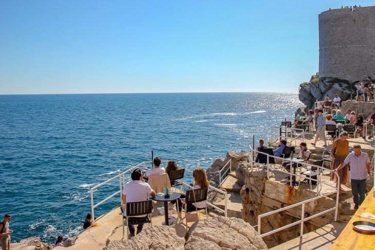 Buza Bar Beach in Dubrovnik, Croatia