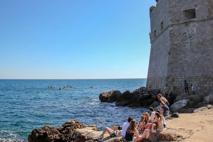 City Walls Beach in Dubrovnik, Croatia