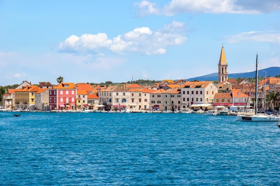 Sailing into Stari Grad, Hvar Island, Croatia aboard the Almissa with Sail Croatia