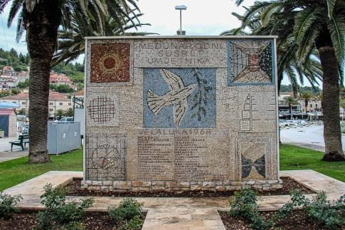 Vela Luka mosaic tile work on Korcula, Croatia