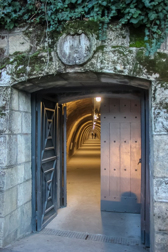 Doorway into Gric Tunnel in Zagreb, Croatia