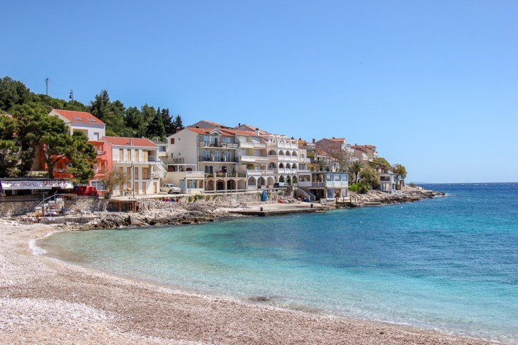 Village of Milna in Hvar, Croatia