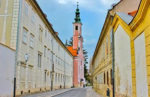 Street in Varazdin, Croatia