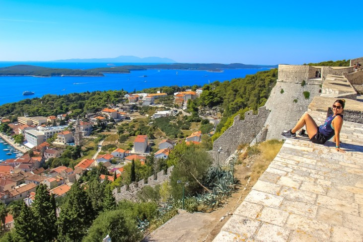 Spanjola Fortress viewpoint in Hvar, Croatai