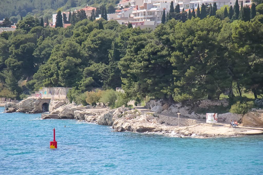 Natural rocks at Zvoncac Beach in Split, Croatia