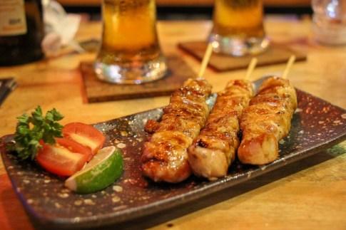 Yakitori at Japanese restaurant in Beacon Place in Bangkok On Nut