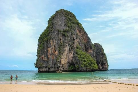 Monolith at Railay Beach West in Krabi, Thailand