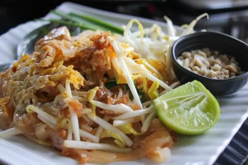 Pad Thai lunch at Saphan Yao Food and Drink on Bang Kachao Island in Bangkok, Thailand