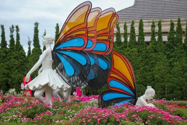 Butterfly Fairies at Flower Garden at Ba Na Hills in Da Nang, Vietnam