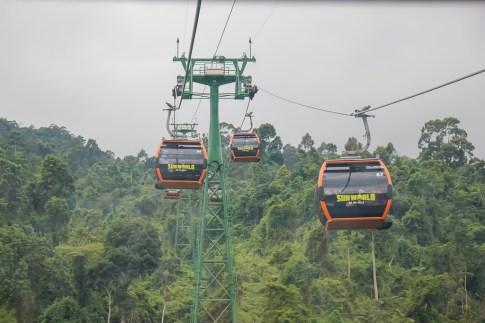Cable Car ride at Ba Na Hills in Da Nang, Vietnam