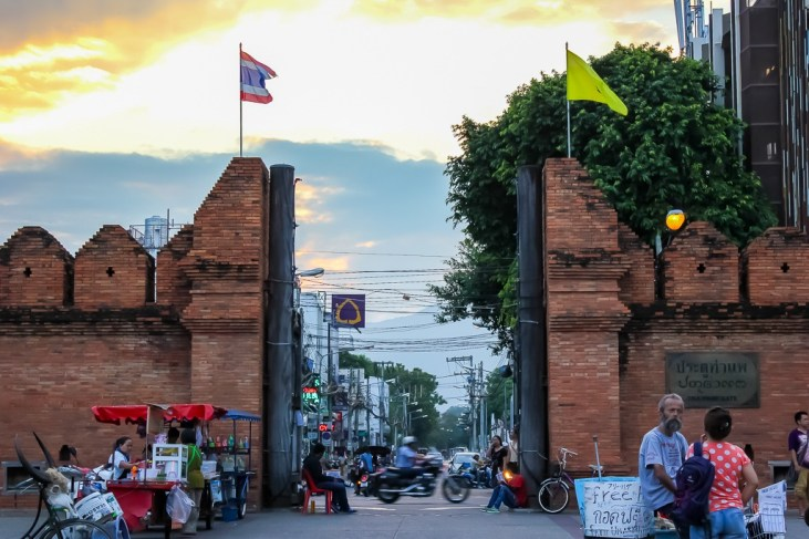 Historic Chiang Mai City Gates in Thailand