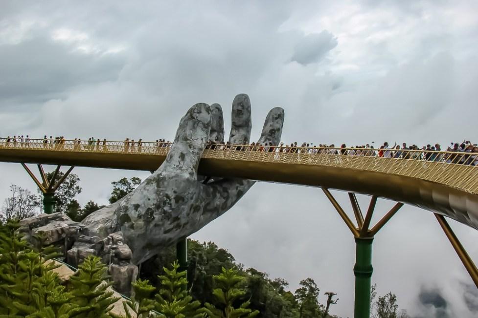 Ba Na Hills Golden Bridge in Da Nang, Vietnam