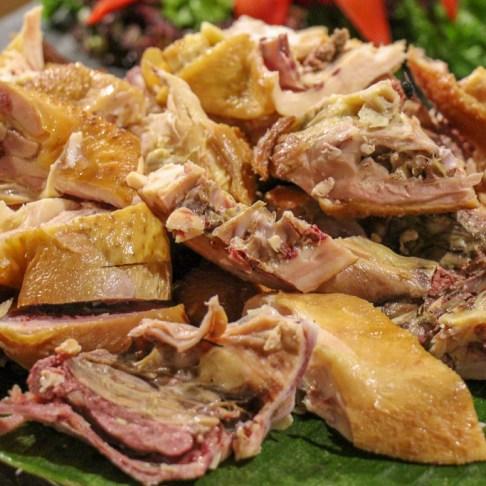 Platter of smoked meat at Beer Plaza Buffet at Ba Na Hills Park in Da Nang, Vietnam