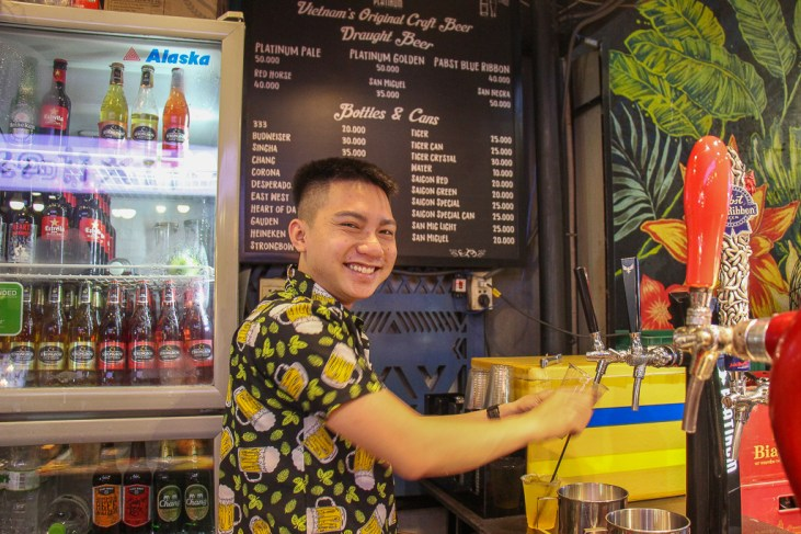 Local Craft Beer at , Ben Thanh Streetfood market, Saigon, HCMC, Vietnam